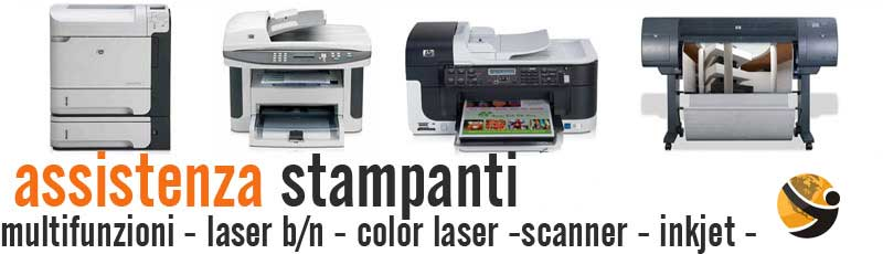 assistenza stampanti e plotter Hp